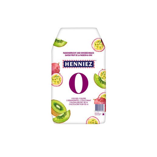 Pack HENNIEZ 0 Passionsfrucht-Kiwi 4x1l