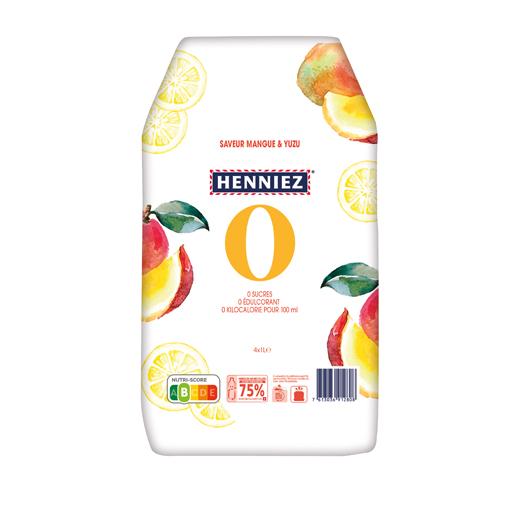 Pack de HENNIEZ 0 mangue-yuzu 4x1l
