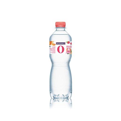 Bouteille d'eau HENNIEZ 0 framboise-mandarine 50cl