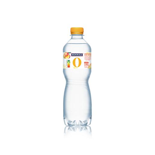 Bouteille d'eau HENNIEZ 0 mangue-yuzu 50cl
