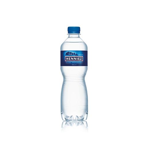 Bouteille d'eau HENNIEZ naturelle en PET 50cl