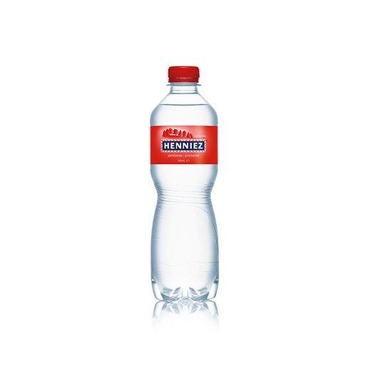 Bouteille d'eau HENNIEZ pétillante en PET 50cl