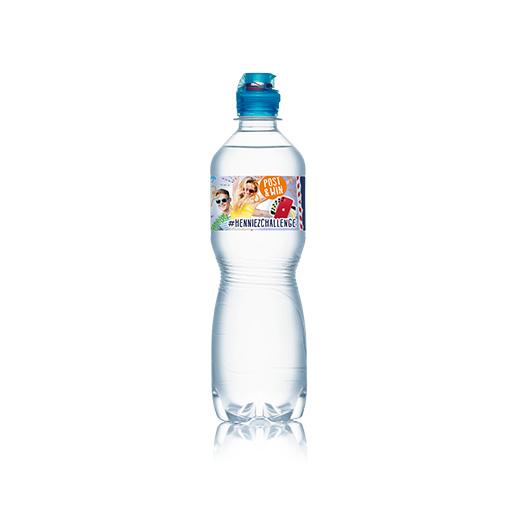 Bouteille d'eau HENNIEZ Sportscap en PET 50 cl