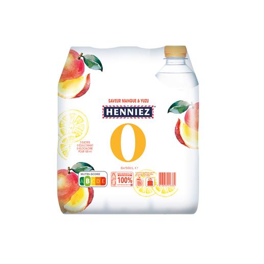 Pack de HENNIEZ 0 mangue-yuzu 6x50cl