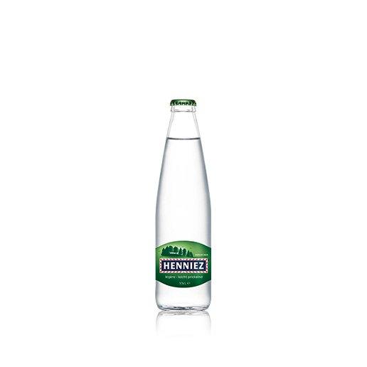 Flasche HENNIEZ leicht prickelnd 33cl Glas