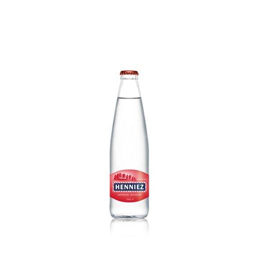 Bouteille d'eau HENNIEZ pétillante 33cl en verre