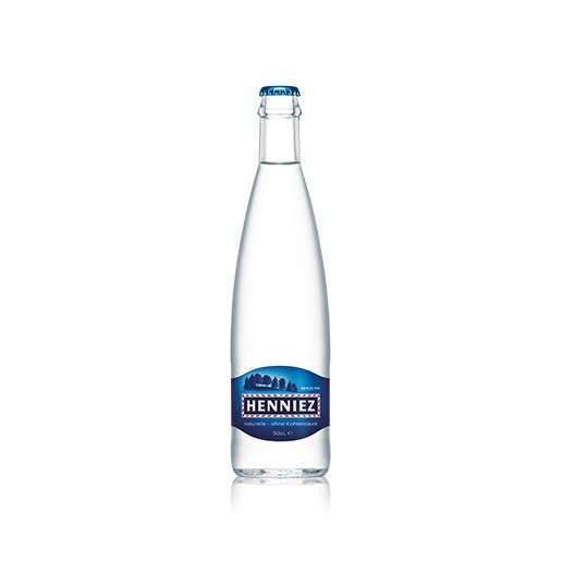 Flasche HENNIEZ ohne Kohlensäure 50cl Glas