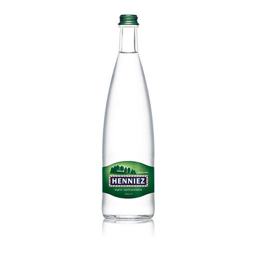 Flasche HENNIEZ leicht prickelnd 75cl Glas