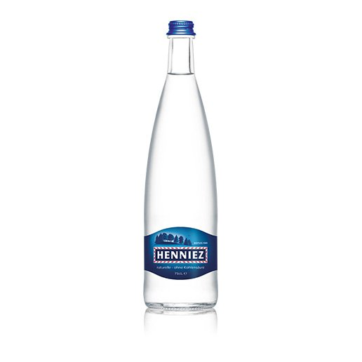 Flasche HENNIEZ ohne Kohlensäure 75cl Glas